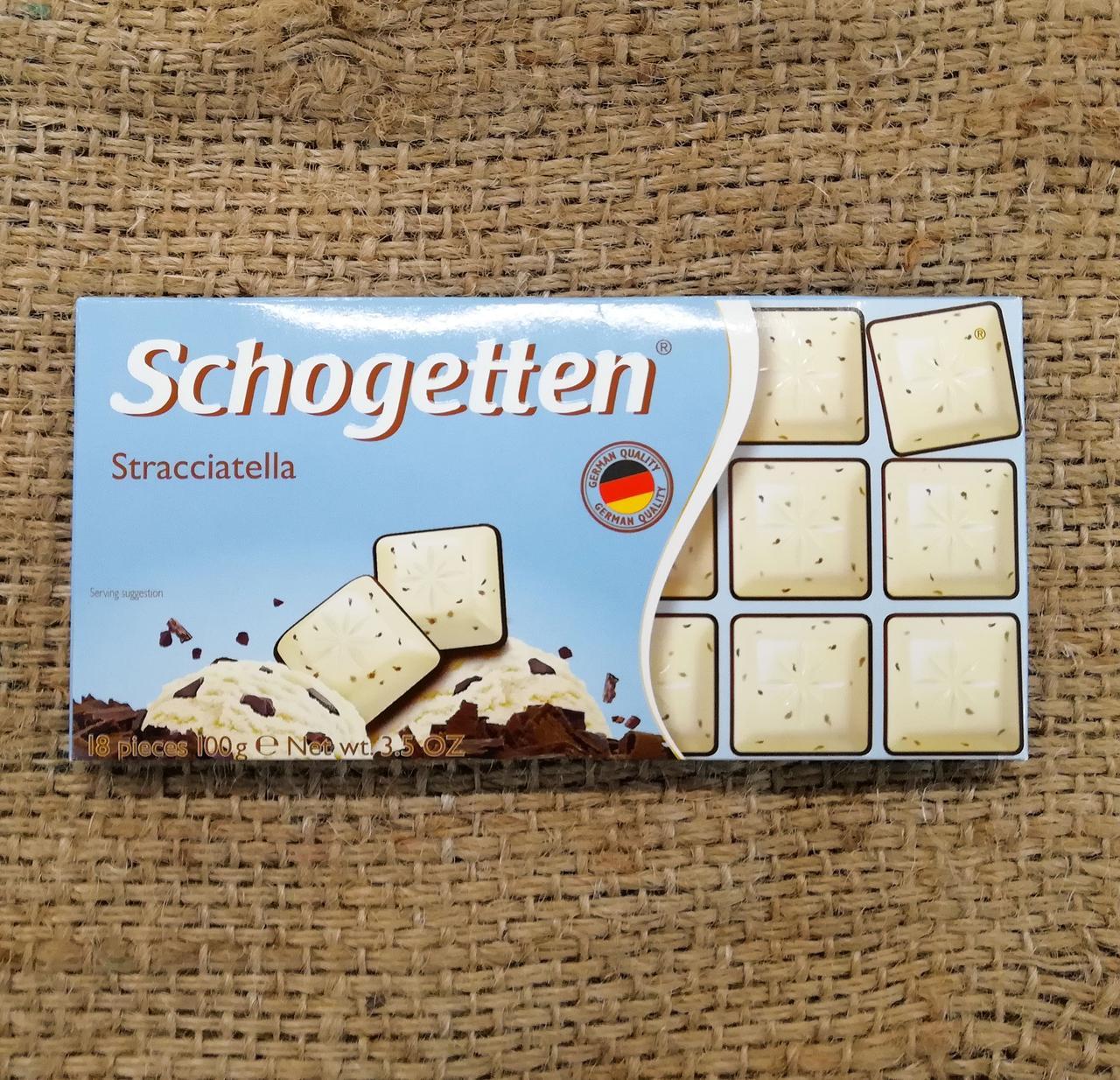 Шоколад Schogetten Stracciatella 100 gramm