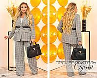 Костюм классический двойка пиджак и брюки костюмка 48-50,52-54