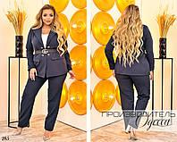Костюм двойка пиджак и брюки костюмка 48-50,52-54