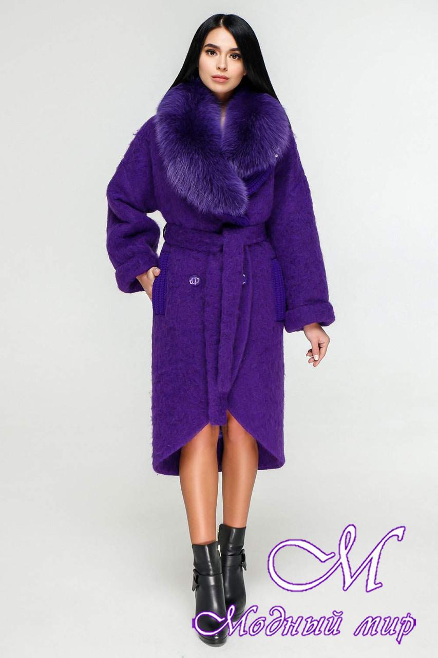 Элегантное зимнее пальто с мехом (р. 44-54) арт. 1089 Тон 8533