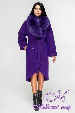 Элегантное зимнее пальто с мехом (р. 44-54) арт. 1089 Тон 8533, фото 2