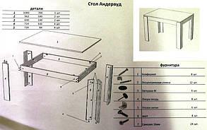 Стол обеденный Андервуд 100х70 дуб клондайк (Микс-Мебель ТМ), фото 2