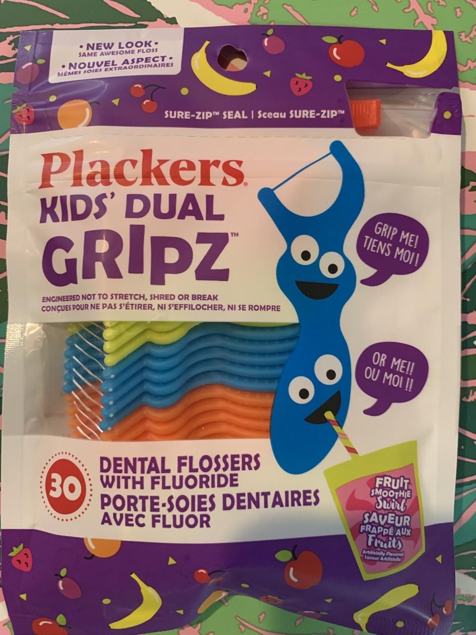 Десткие зубочистки с зубной ниткой в форме зверушек