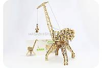 Деревянный механический конструктор Wood Trick - Кран.Техника сборки - 3d пазл. Бесплатная доставка