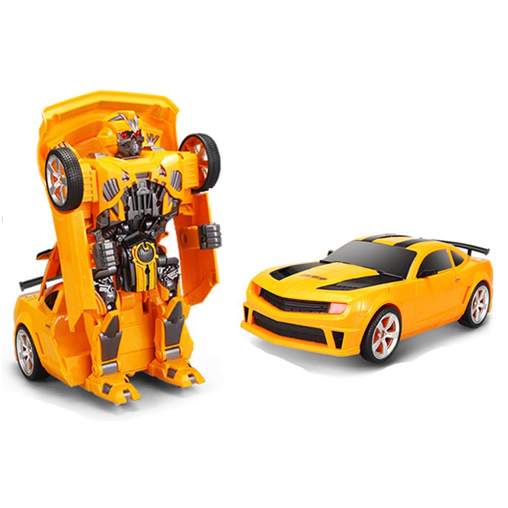 Радіокерована іграшка SUNROZ Hero Wake Thunderbolt іграшковий автомобіль-трансформер на р/к Жовтий (SUN5422)