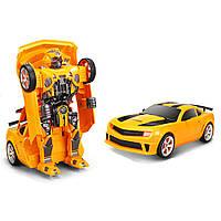 Радіокерована іграшка SUNROZ Hero Wake Thunderbolt іграшковий автомобіль-трансформер на р/к Жовтий (SUN5422), фото 1