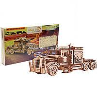 Детский деревянный механический конструктор Wood Trick - Тягач. БЕСПЛАТНАЯ ДОСТАВКА
