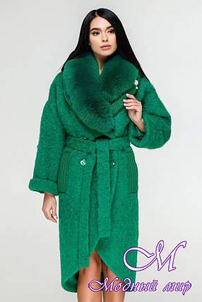 Элегантное зимнее пальто с натуральным мехом (р. 44-54) арт. 1089 Тон 8534, фото 2