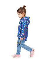 Детская ветровка на девочку на флисе (микрофлис) 86, 92, 104