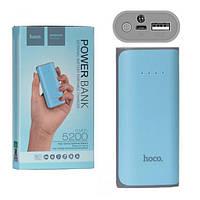 Качественный Оригинальный Power Bank Hoco Premium B21 5200 mAh Blue Реальная емкость, фото 1