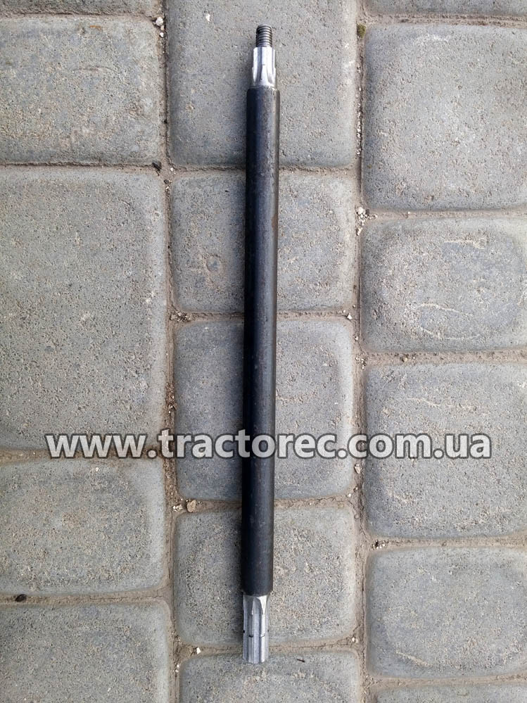 Вал нижний длинный косилки роторной КР-01, длинна 600мм, (ременной привод к мотоблоку)