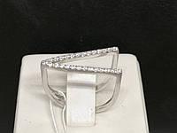 Срібне кільце з фіанітами. Артикул 3882 17,5, фото 1