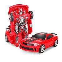 Радіокерована іграшка SUNROZ Hero Wake Thunderbolt іграшковий автомобіль-трансформер на р/к Червоний (SUN5423)