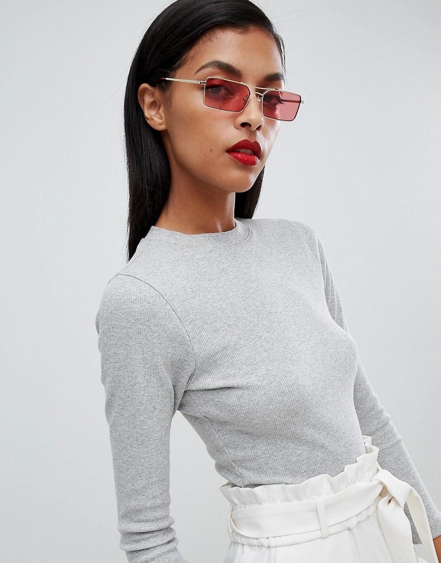 Квадратные узкие очки унисекс в ассортименте 24808tezOh