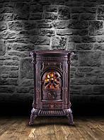 Камин печь буржуйка Bonro чугунная двойная стенка 9 кВт (Польша)