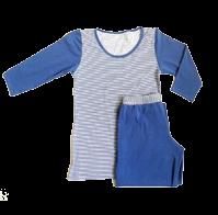 """Комплект спальный женский брюки с футболкой 3/4 PL 01 """"Ego"""" 95% хлопок цвет голубой"""