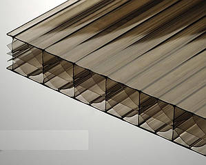 Сотовый поликарбонат TM Borrex 16мм бронза 2100х6000мм