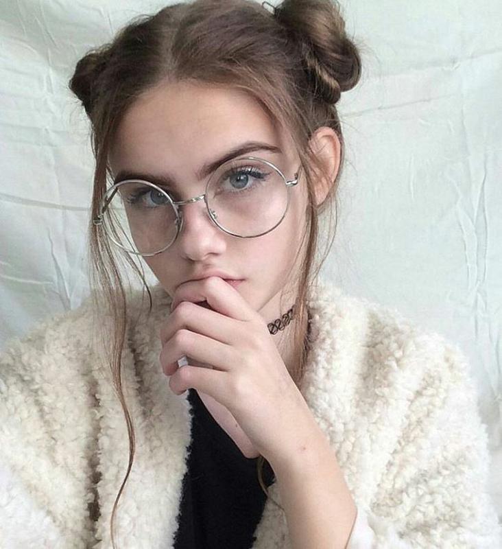 Стильные круглые очки с антибликовым покрытием 24814tezOh