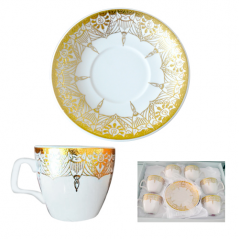 Сервиз кофейный 12пр (чашка-100мл,блюдце-11см) Тутанхамон