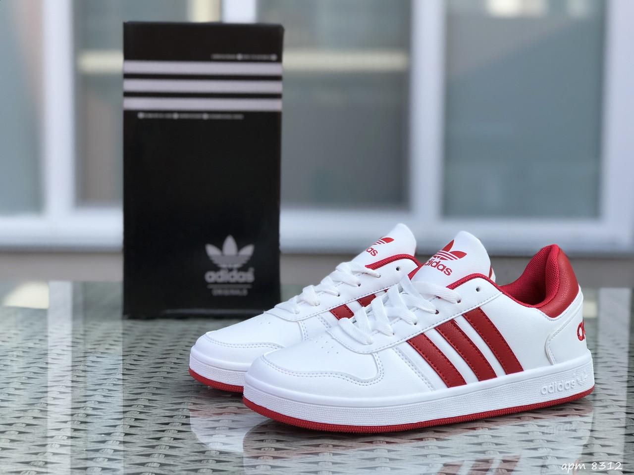Кроссовки Adidas La marque,белые с красным