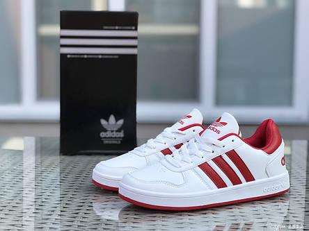 Кроссовки Adidas La marque,белые с красным, фото 2