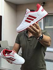 Кроссовки Adidas La marque,белые с красным, фото 3