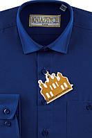 """Синяя рубашка для мальчиков """"Княжич"""""""