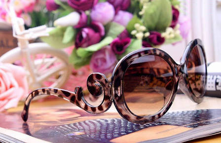 Очки реплика Prada леопардовые, фото 2