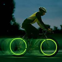 Подсветка коле светодиодная—лайм, подсветка дисков, лайм
