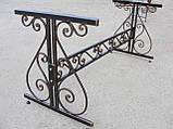 Каркас стола садового кованого ( 120x60 см), фото 3