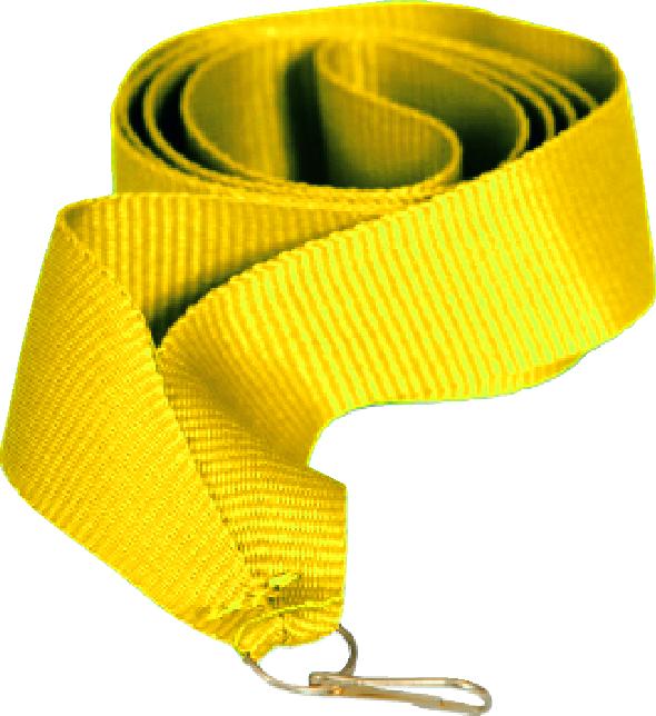 Лента для медали желтая 15 мм