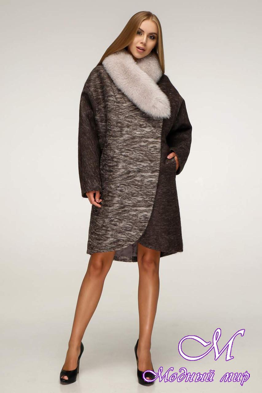 Женское теплое зимнее пальто с мехом (р. 44-58) арт. 1212 Тон 1