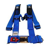 Ремни безопасности для багги, авто 4-х точечные 3″ Proarmor (синий), фото 1