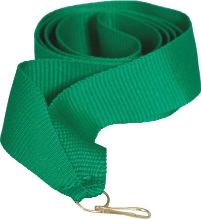 Лента для медали зеленая 15 мм