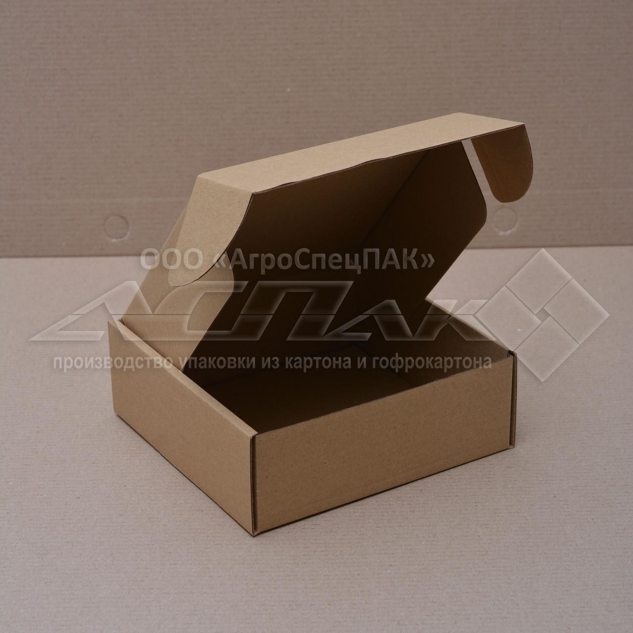Картонные коробки 150*150*55 бурые