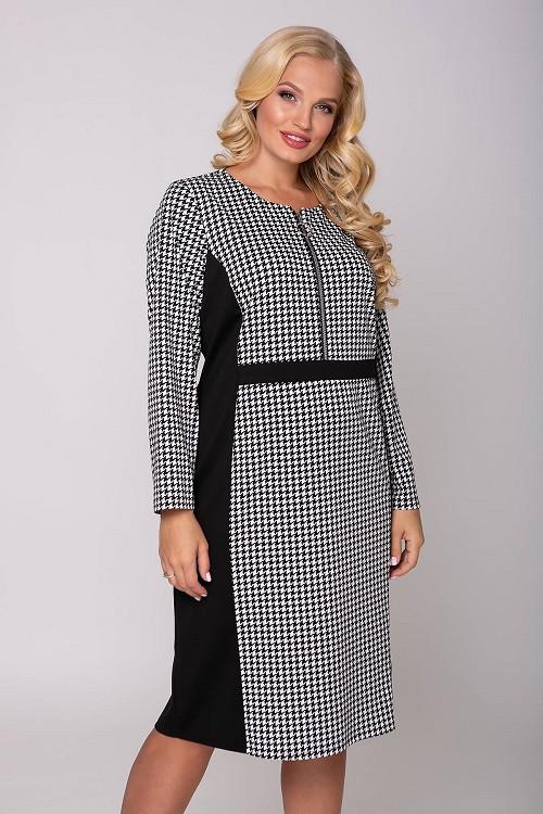 Платье в деловом стиле Энни черный (56-62)