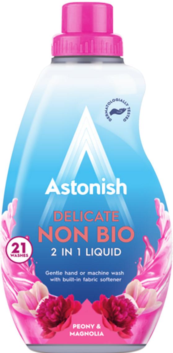 Концентрований гіпоалергенний гель для прання делікатних виробів Astonish 2in1 peony & magnolia 840 ml.