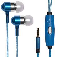 Светящиеся наушники Light Earphone с микрофоном универсальные
