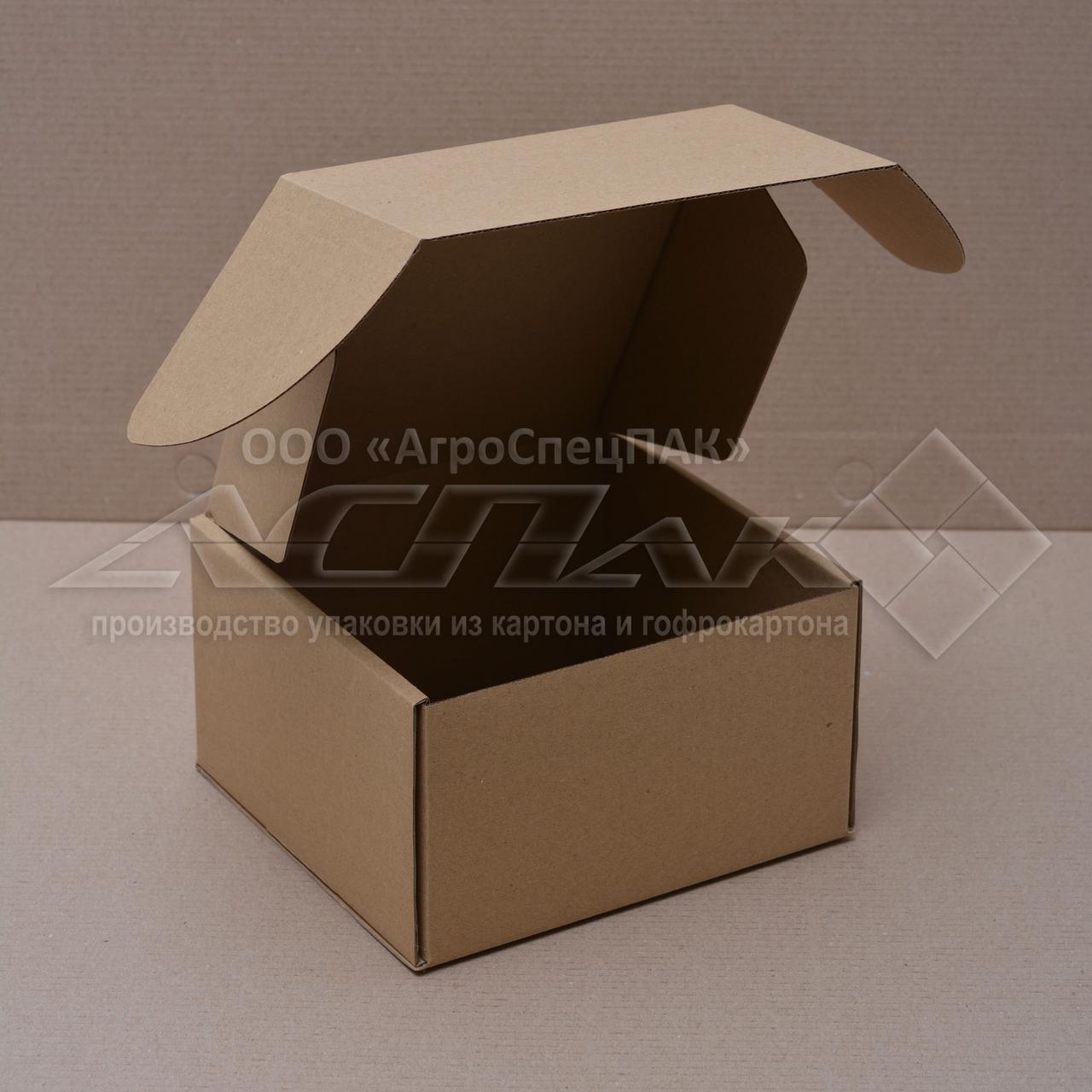Картонные коробки 150*150*90 бурые - фото 1