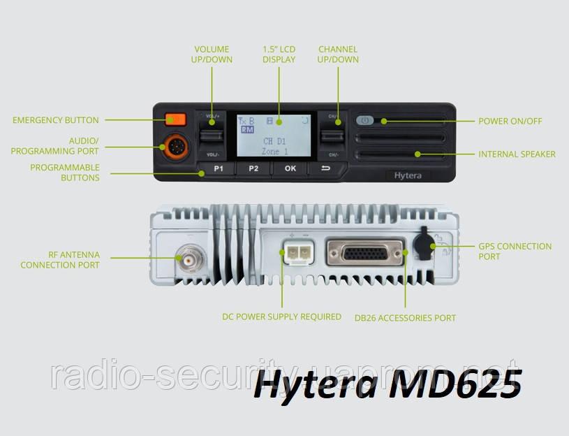 Радиостанция автомобильная цифровая HYTERA MD625 BLUETOOTH