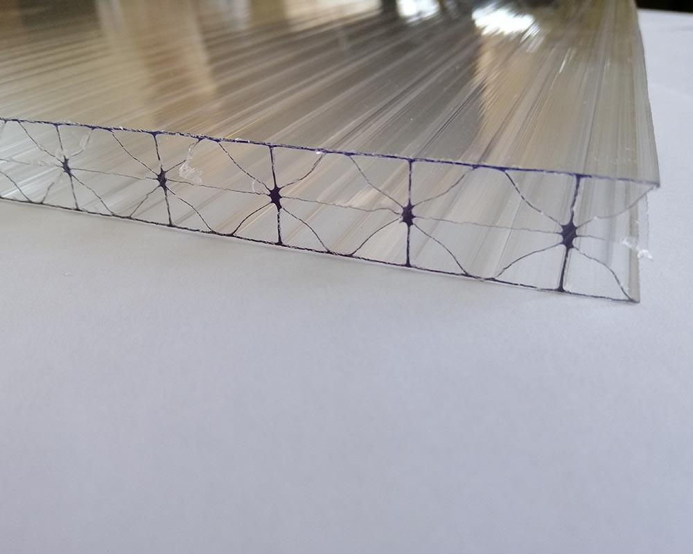 Сотовый поликарбонат TM Borrex 16мм прозрачный Ж-образный 2100х6000мм