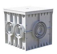 Колодец кабельный пластиковый e.manhole.300.300.300.6.cover, 300х300х300мм, 6 выходов под трубу, с крышкой