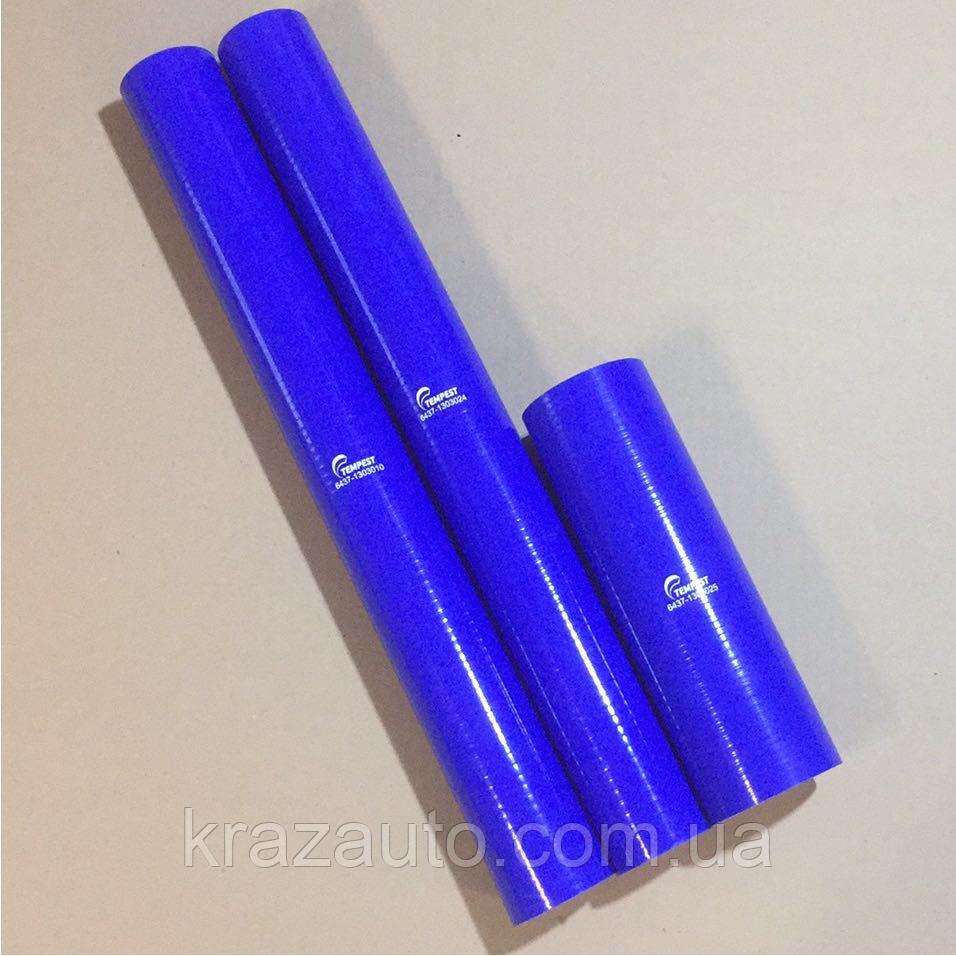 Комплект патрубоков радиатора КрАЗ 6437,6510 3шт. силикон 6510-1303025
