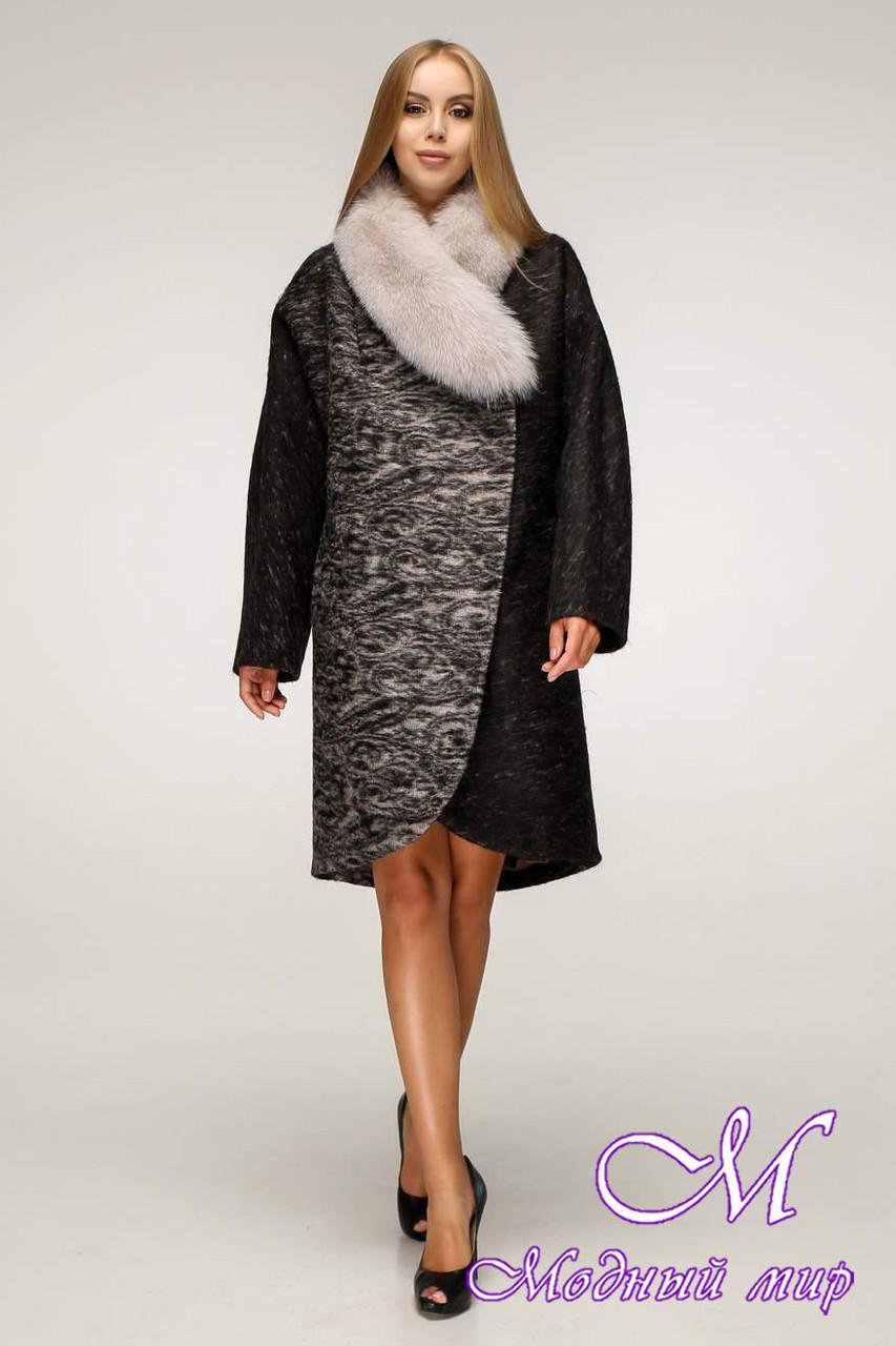 Женское шерстяное зимнее пальто (р. 44-58) арт. 1212 Тон 2