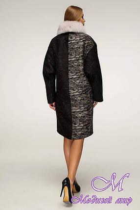 Женское шерстяное зимнее пальто (р. 44-58) арт. 1212 Тон 2, фото 2