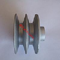 Шкив приводной двухручьевой (под шпонку Ø 19 мм, диаметр 76 мм) 2 ручья типа В
