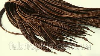 Шнурки плоские 100 см коричневые