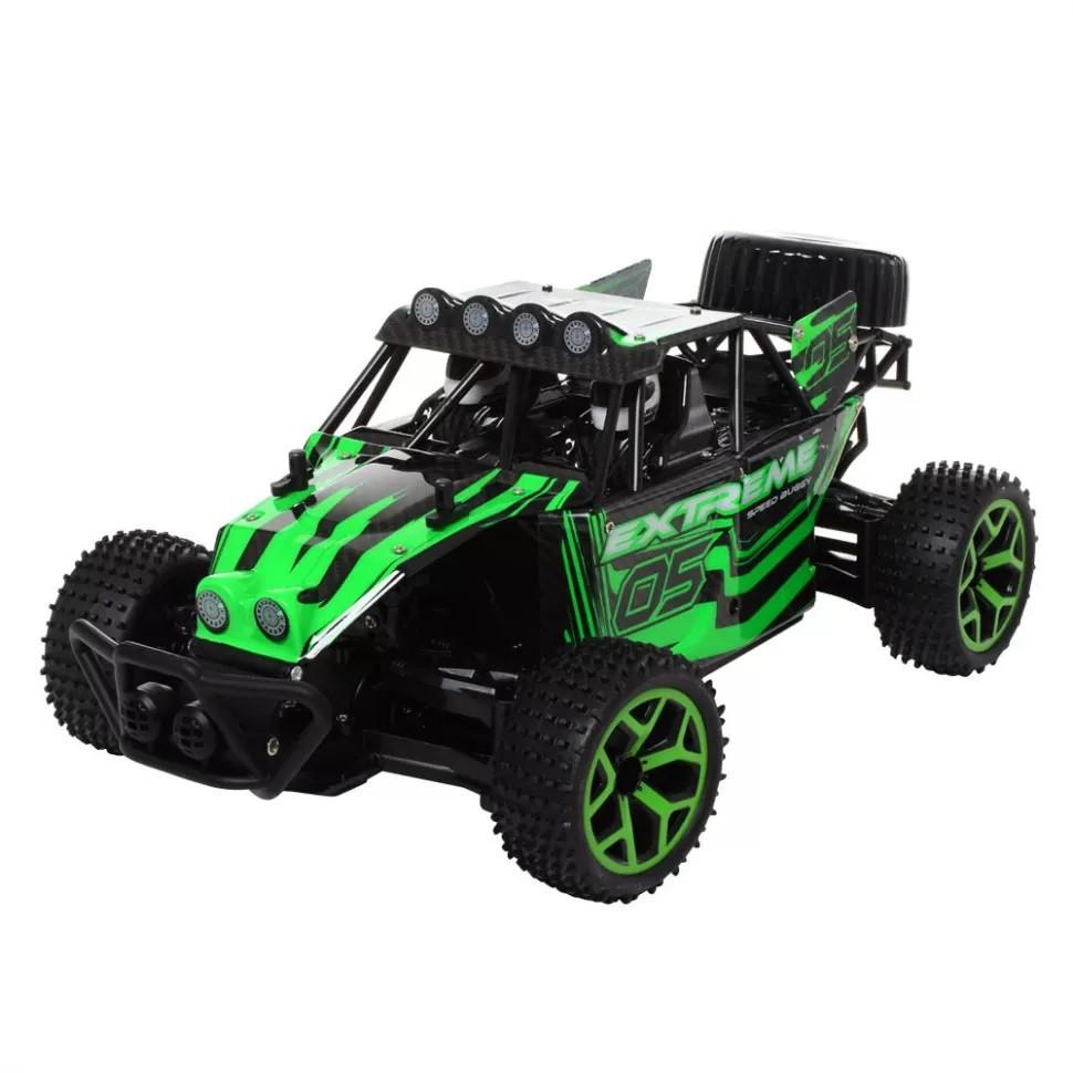Радіокерована іграшка CRAZON 17GS02 EXtreme дитячий автомобіль на р/к 1:18 4x4 Зелений (SUN5427)