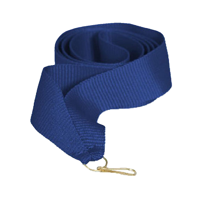 Лента для медали синяя 15 мм.