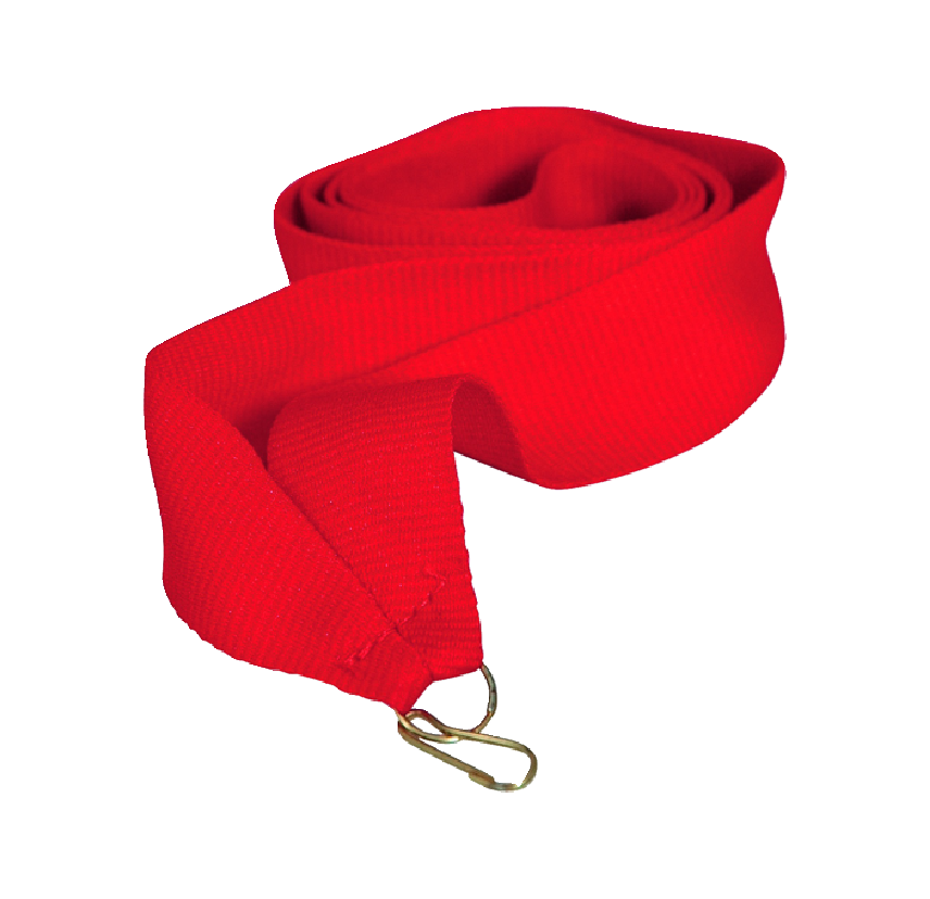 Лента для медали красная 15 мм.